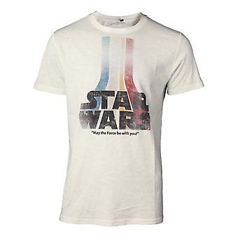 Star Wars Retro Rainbow Logo t-paita valkoinen X-Large (TS061675STW-XL)