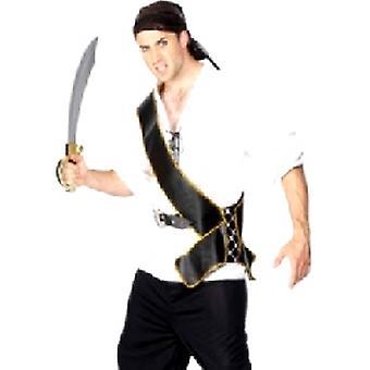 Пиратский кушак кожа взгляд золото отделки (количество 1)