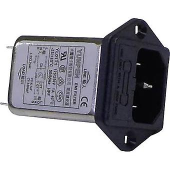 Yunpen YL01T1 Line filter + IEC socket, + fuse 250 V AC 1 A 3.7 mH (L x W x H) 60 x 45 x 33.5 mm 1 pc(s)