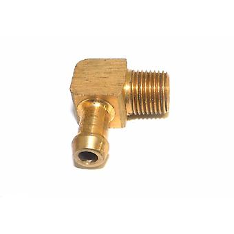 "Big A Service Line 3-83124 Brass 1/8"" Thread x 1/4"" Metal Barbed Tube Fitting"
