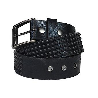 Lowlife Shrink Leather Belt in Matt Black