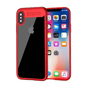 Stuff Certified® iPhone X - Auto Focus Armor Case Cover Cas Silicone TPU Case Red