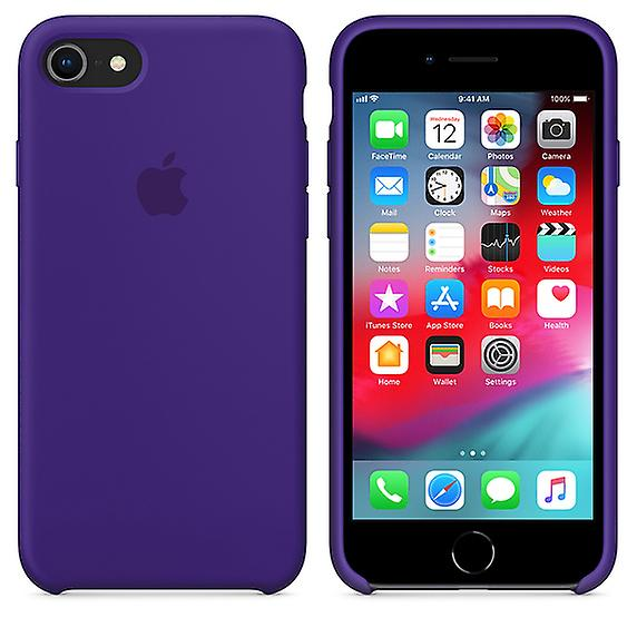 Original packaging Apple silicone Micro Fiber cover case for iPhone 8 / 7 - violet