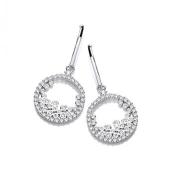 Cavendish French Silver & Tumbling Cubic Zirconia Earrings