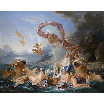 De geboorte van Venus, Francois Boucher, 50x40cm