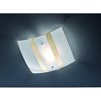 Trio Lighting Nikosia Modern Gold Glass Ceiling Lamp