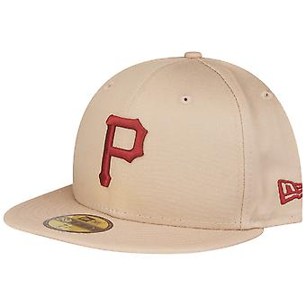 Beige nieuwe era 59Fifty uitgerust Cap - Pittsburgh Pirates