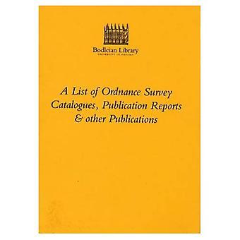 Une liste de l'Ordnance Survey de Catalogues, Publication de rapports et autres Publications: Maplist no 2