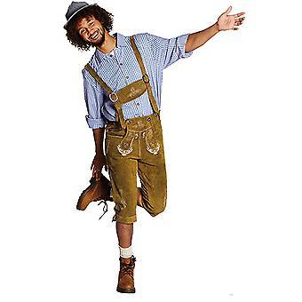 Lær bukser Bayern YODEL Oktoberfest bayerske kostyme for menn