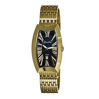 Bertha Laura Ladies Swiss Bracelet Watch w/Date - Gold/Black