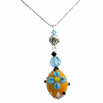 Ainutlaatuinen lahja Artisan luominen Swarovskin kristalleja Lamppuhelmet helmi