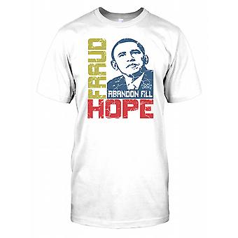 Betrug Abandon All Hope - Präsident Obama - Verschwörung Kinder T Shirt