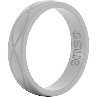 Enso Rings Women's Infinity Series Silicone Ring - Misty Grey