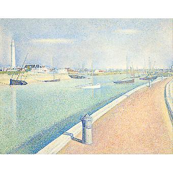 Впечатление рисунок, Жорж Сёра, 50x40cm