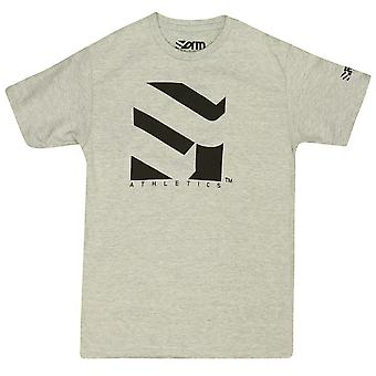 Form Athletics Mens Serrated 2 T-Shirt -Heather Gray/Black