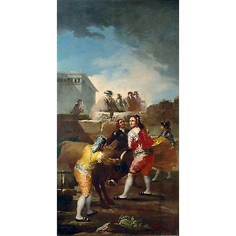 La Novillada,Francisco Goya,80x40cm