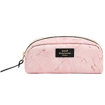 Wouf Pink Marble Beauty Make Up Bag
