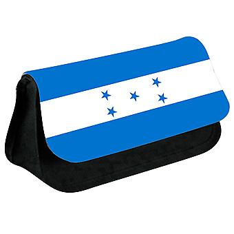 Honduras Flag Printed Design Pencil Case for Stationary/Cosmetic - 0074 (Black) by i-Tronixs