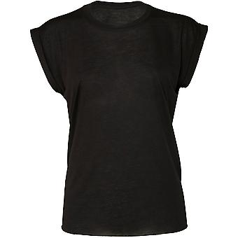 Cotton Addict Womens/Ladies Flowy Muscle Rolled Cuff Tee T shirt