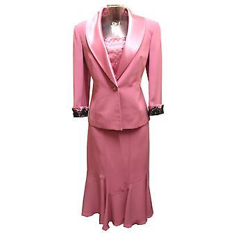 RONALD JOYCE Sukienka Garnitur 98542 Kwiat Różowy