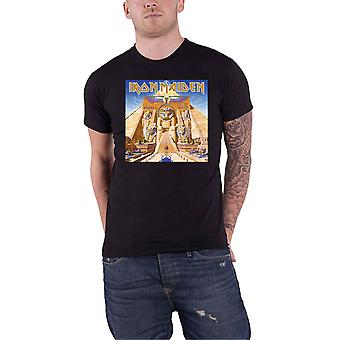Iron Maiden T Shirt Powerslave Album Cover Box Band Logo new Official Mens Black