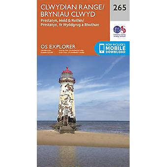 Clwydian Range - Prestatyn - Mold and Ruthin (September 2015 ed) by O