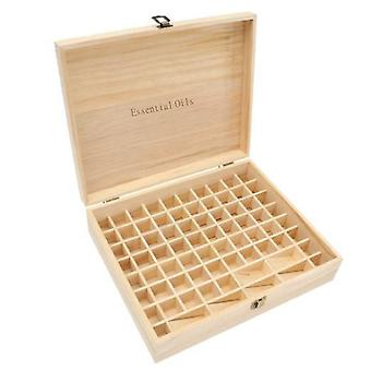 Essential Oils Wood Storage Box | Single-59-74 Slots