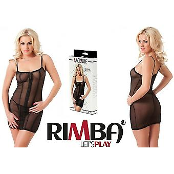 'Amorable' by Rimba Lingerie See Through Black Mini Dress with G-Strin