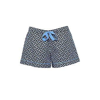Cyberjammies 4195 kvinders Milly sort mix flise print bomuld pyjamas kort
