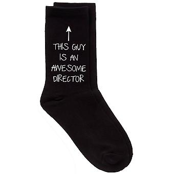 This Guy Is An Awesome Director Mens Black Socks