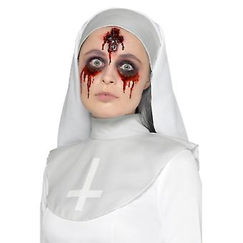 Make Up FX Latex Kreuz Wunde Halloween Accessoire Schminke Cross Wound Scar