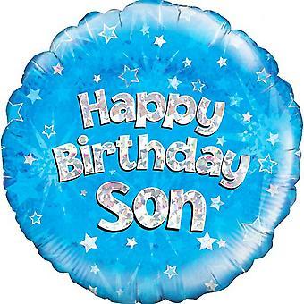 Oaktree 18 Inch Circle Happy Birthday Son Foil Balloon