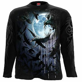 Spiral-Crow Moon--långärmad t-shirt
