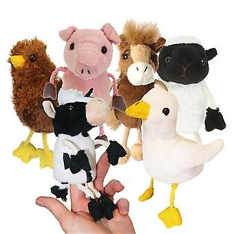 Finger Puppet - Farm Animals Set of 6 New Soft Doll Plush PC002021