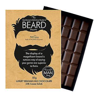 Śmieszne prezenty dla Brodaty mężczyźni Beard Lover prezent czekolada powitanie karta Oncocoa BTQ102