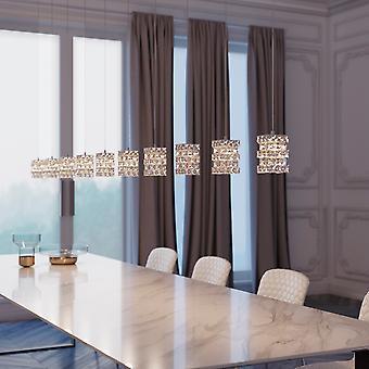 Modern Chrome Wall Scone Pendant Lamp Chandelier Décor Rectangular Canopy New