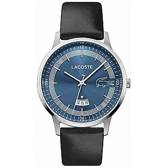 Lacoste | Men's Madrid | Black Leather Strap | Blue Dial | 2011034 Watch
