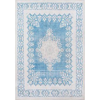 Afshar machine made blue 2'3