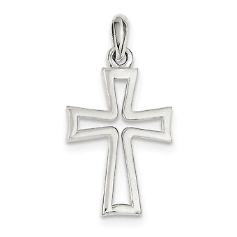 925 Sterling Silver Open Polished Cross Pendant Jewelry Gifts for Women - 3.4 Grams