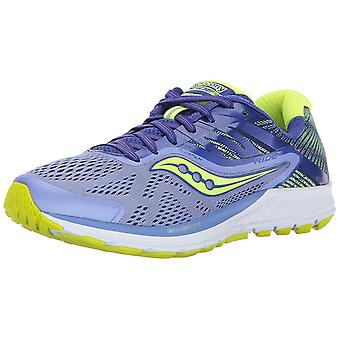 Saucony Womens Ride 10 Reflex stof laag bovenste Lace Up Running Sneaker