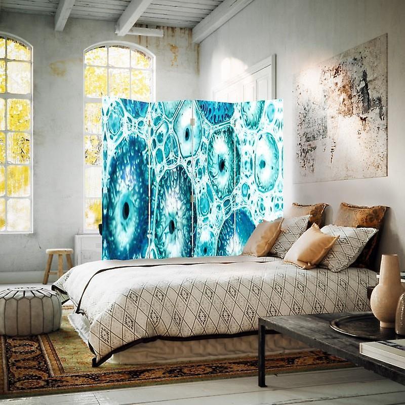 Room Divider, 4 panneaux, Double-Sided, Rotatable 360 ?? - Toile, motif bleu