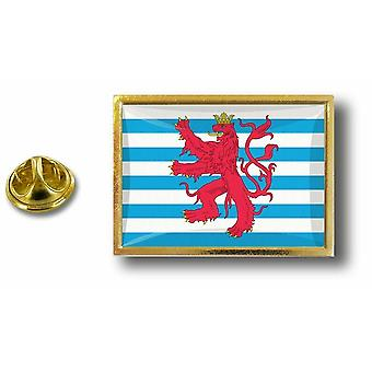 Pine PineS Badge Pin-apos;s Metal With Butterfly Pinch Flag Luxembourg Lion