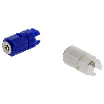 Replacement hinges for nintendo game boy advance sp ? set of 2 barrel hinge axles ? blue & white