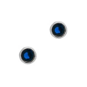 Outlander Inspired Scottish Outlander & apos;Voyager' Inspired Stud Style Pair Of Earrings - Sapphire Colour Stone
