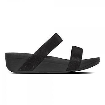 FitFlop Lottie glitzy damer Slide sandaler svart