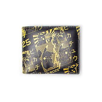 Pokemon Pikachu Manga Bifold Wallet Male - Black/Yellow (MW116834POK)