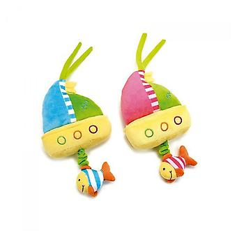 Lelly 30 cm Baby World Chimes Boat Plush Toy