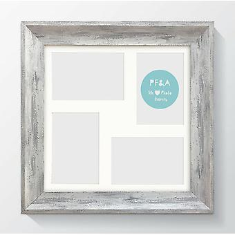 """Elissa 4 Multi Aperture Photo Picture Frame 12x12"""" for 6x4"""" Wall Mount Collage"""