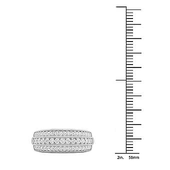 IGI Certified DeCouer 1/2Ct TDW Diamond 14k White Gold Wedding Band (H-I, I2)