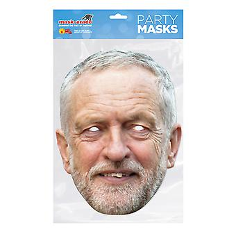 Bristol Novelty Mens Jeremy Corbyn Face Card Mask